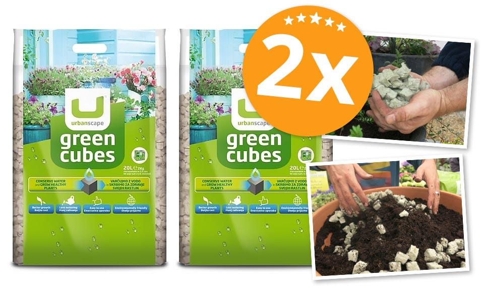 PAKET (2x) Zelene kocke, 2 kg (20 l) - Brezplačna dostava