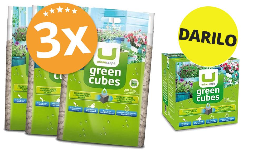 PAKET (3x) Zelene kocke 2 kg + DARILO 1x Kocke (600g)
